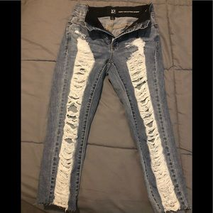New York and Company Women distressed jeans